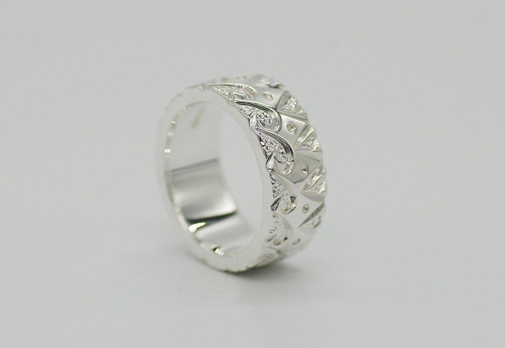 8mm幅 HIRAUCHI RING SV950 [TEORA](婚約指輪/結婚指輪)