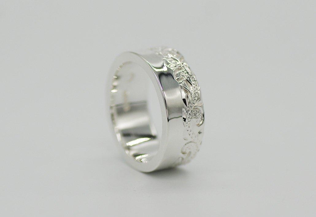 8mm幅 HIRAUCHI RING SV950 [HAPASCROLL](婚約指輪/結婚指輪)