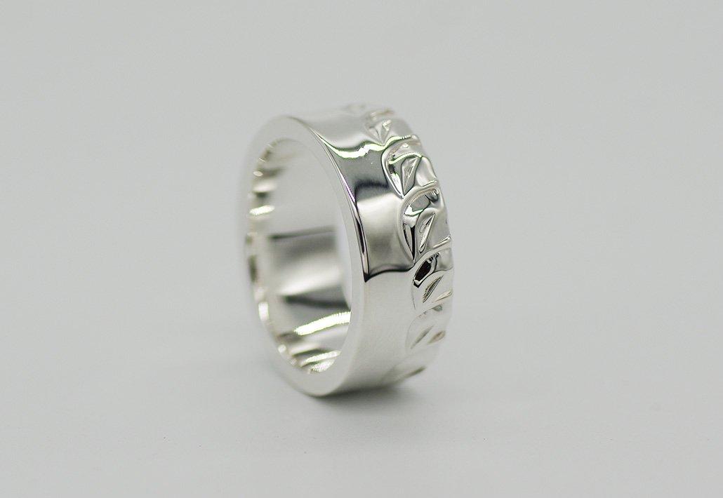 8mm幅 HIRAUCHI RING SV950 [HAPAMAILE](婚約指輪/結婚指輪)