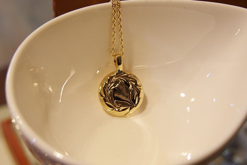 COINPENDANT Yellowgold 10K チェーン付 [MAILE]
