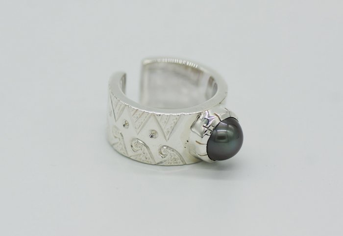 HANAUMA Te ora Pearl Ring 12mm