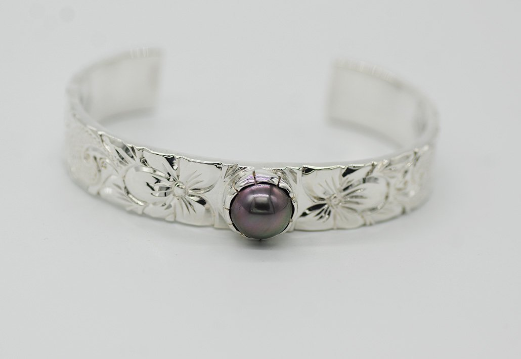 13mm幅 TahitianPearlBangle SV950 [SCROLL]