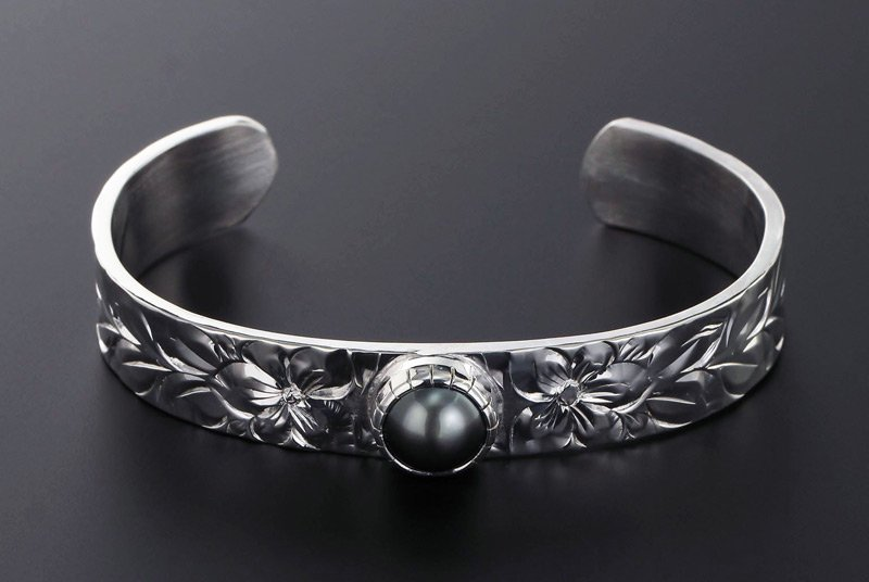 13mm幅 TahitianPearlBangle SV950 [MAILE]