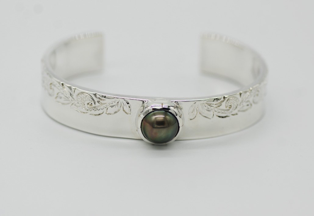 13mm幅 TahitianPearlBangle SV950 [HAPA/SCROLL]