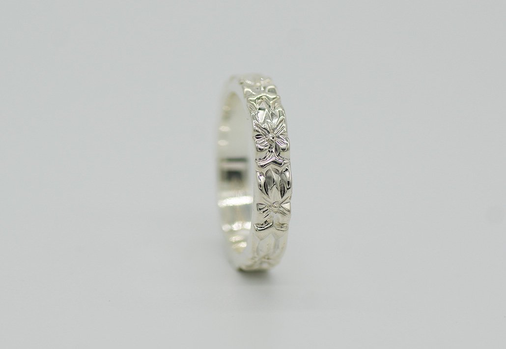 4mm幅 HIRAUCHI RING SV950[AROHA](婚約指輪/結婚指輪)
