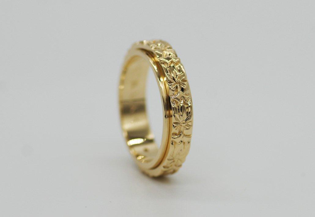6mm幅 COMBI2重リング 14K [TATAU](婚約/結婚指輪)