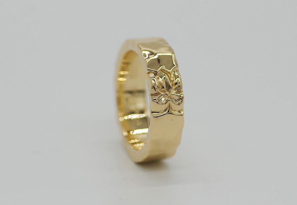6mm幅 HIRAUCHI RING14KYG[TEORA](婚約指輪/結婚指輪)