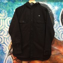 FRA COTTON HOOD SHIRTS -BLACK