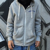 SQUASH MANAGE*DESTROY ZIPUP PARKA -GREY