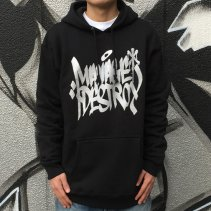 SQUASH	MANAGE*DESTROY EATER TAG HOODY	-BLACK