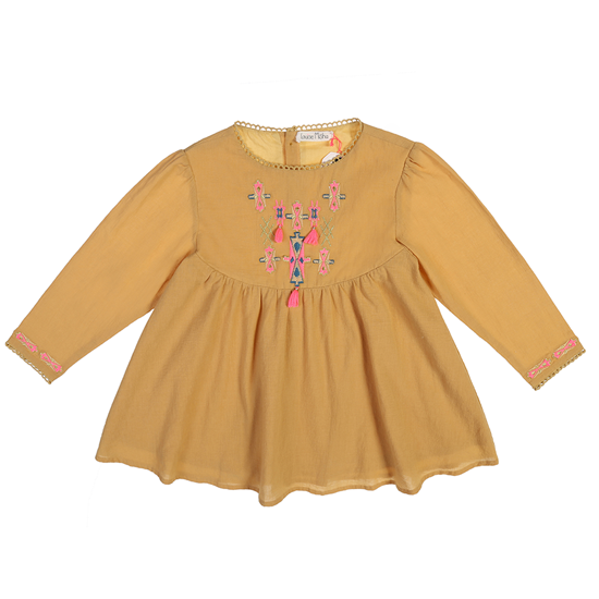 Louise Misha【秋冬物セール】Dress Mujine Moutarde