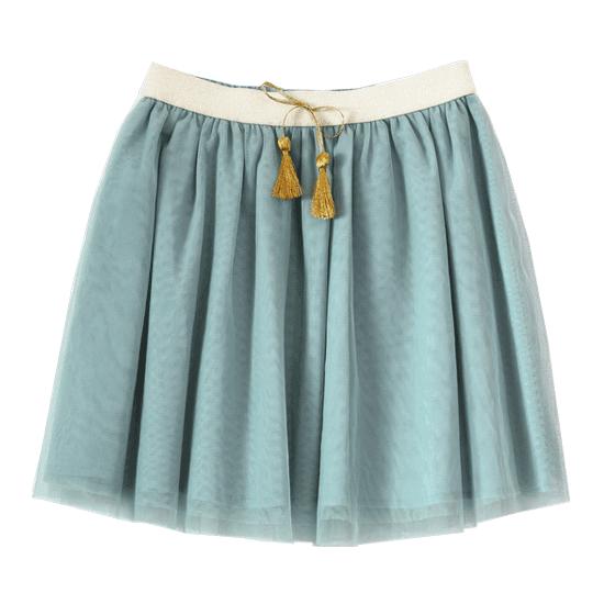 BONHEUR DU JOUR【秋冬物セール】ANNA SKIRT BLUE/GREEN
