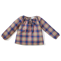 <b>BONHEUR DU JOUR</b><br>【秋冬物セール】PREPPY CHECKS BEIGE/BLUE<img class='new_mark_img2' src='//img.shop-pro.jp/img/new/icons16.gif' style='border:none;display:inline;margin:0px;padding:0px;width:auto;' />