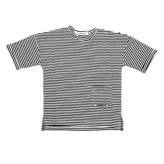 MINGO.【春夏物セール】T-shirt Black / White stripes