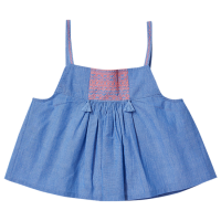 <b>BONHEUR DU JOUR</b><br>【春夏物セール】CECILIA girl top/BLUE CHAMBRAY
