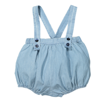 <b>BONHEUR DU JOUR</b><br>【春夏物セール】MATEO Baby bloomer/ BLUE LIGHT DENIM