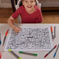 <b>eat sleep doodle</b><br>dinosaur placemat to go