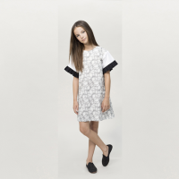 <b>MOTORETA</b></br>【入荷前ご予約販売】</br>MAR DRESS</br>Black&white halftone print<img class='new_mark_img2' src='//img.shop-pro.jp/img/new/icons2.gif' style='border:none;display:inline;margin:0px;padding:0px;width:auto;' />