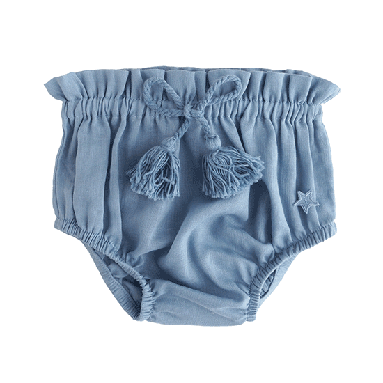 tocoto vintage BABY COULOTTE  BLUE