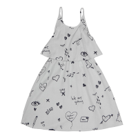 <b>soft gallery</b></br>Marisol Dress</br> Sterling Blue, AOP Loveletters<img class='new_mark_img2' src='https://img.shop-pro.jp/img/new/icons18.gif' style='border:none;display:inline;margin:0px;padding:0px;width:auto;' />