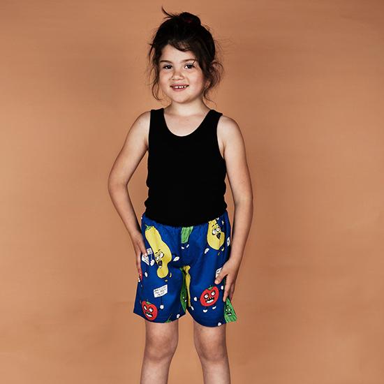 mini rodiniVeggie woven shortsBlue