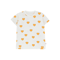 <b>tinycottons</b></br> 20ss HEARTS TEE<br>off-white/yellow