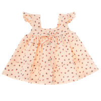 <b>tocoto vintage</b><br>20ss Strawberry print dress with back down buttons<br>SALMON<img class='new_mark_img2' src='https://img.shop-pro.jp/img/new/icons1.gif' style='border:none;display:inline;margin:0px;padding:0px;width:auto;' />
