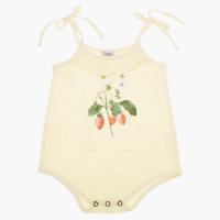 <b>tocoto vintage</b><br>20ss Strawberry plant drawing romper<br>LIGHT YELLOW<img class='new_mark_img2' src='https://img.shop-pro.jp/img/new/icons1.gif' style='border:none;display:inline;margin:0px;padding:0px;width:auto;' />