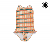 <b>soft gallery</b><br>20ss Ida Swimsuit<br>Winter Wheat, AOP Check
