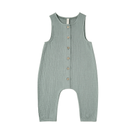 <b>QUINCY MAE</b><br>20ss Woven Snap Jumpsuit<br>ocean