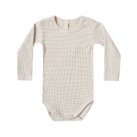 <b>QUINCY MAE</b><br>20ss Ribbed Longsleeve Onesie<br>fog stripe<img class='new_mark_img2' src='https://img.shop-pro.jp/img/new/icons1.gif' style='border:none;display:inline;margin:0px;padding:0px;width:auto;' />