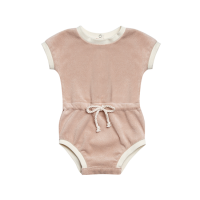 <b>QUINCY MAE</b><br>20ss Retro Romper<br>petal<img class='new_mark_img2' src='https://img.shop-pro.jp/img/new/icons1.gif' style='border:none;display:inline;margin:0px;padding:0px;width:auto;' />