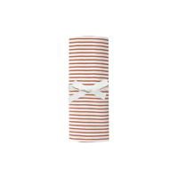 <b>QUINCY MAE</b><br>20ss Baby Swaddle<br>rust stripe