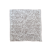 <b>LAPUAN KANKURIT</b><br>20ss NIITTY multi-use cloth 48x48cm<br>white-brown