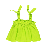 <b>piupiuchick</b></br>20ss Top with straps<br>lime linen