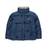 "<b>tinycottons</b></br> 20aw ""BIG DOTS"" PADDED JACKET<br>light navy/navy"