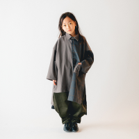 <b>nunuforme</b><br>20aw ミックスロングシャツ<br>Charcoal