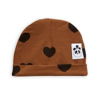 <b>mini rodini</b><br>20aw Hearts baby beanie TENCEL™<br>Brown<img class='new_mark_img2' src='https://img.shop-pro.jp/img/new/icons1.gif' style='border:none;display:inline;margin:0px;padding:0px;width:auto;' />