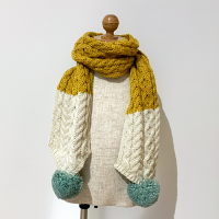 <b>ARAN WOOLLEN MILLS</b></br>20aw Scarf<br>Yellow×White<img class='new_mark_img2' src='https://img.shop-pro.jp/img/new/icons1.gif' style='border:none;display:inline;margin:0px;padding:0px;width:auto;' />