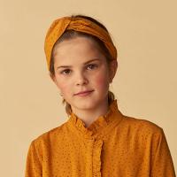 <b>soft gallery</b><br>20aw Wrap Hairband<br>Inca Gold, AOP Trio Dotties