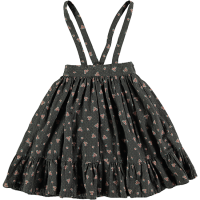 <b>tocoto vintage</b><br>20aw Flower print midi skirt with braces<br>DARK BROWN<img class='new_mark_img2' src='https://img.shop-pro.jp/img/new/icons1.gif' style='border:none;display:inline;margin:0px;padding:0px;width:auto;' />