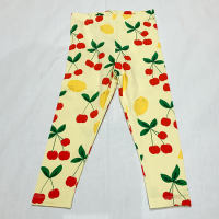 <b>mini rodini</b><br>21ss Cherry lemonade aop leggings<br>Yellow