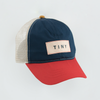 <b>tinycottons</b></br>21ss COLOR BLOCK TINY CAP<br>ink blue/red