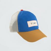 <b>tinycottons</b></br>21ss COLOR BLOCK TINY CAP<br>iris blue/honey