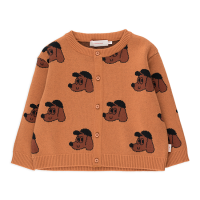 <b>tinycottons</b></br>21aw DOG BABY CARDIGAN<br>true brown/dark copper<img class='new_mark_img2' src='https://img.shop-pro.jp/img/new/icons1.gif' style='border:none;display:inline;margin:0px;padding:0px;width:auto;' />