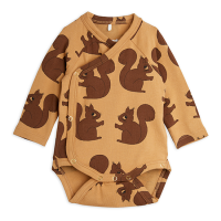 <b>mini rodini</b><br>21aw Squirrels aop wrap body<br>Brown<img class='new_mark_img2' src='https://img.shop-pro.jp/img/new/icons1.gif' style='border:none;display:inline;margin:0px;padding:0px;width:auto;' />