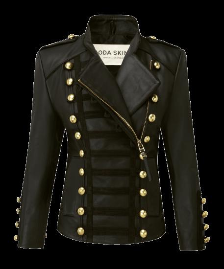 新作 日本未入荷 Boda Skins ボダスキンズ Napoleon レザー ダブル バイカー ナポレオン ジャケット ブラック ゴールド  関税込 ブロガー…