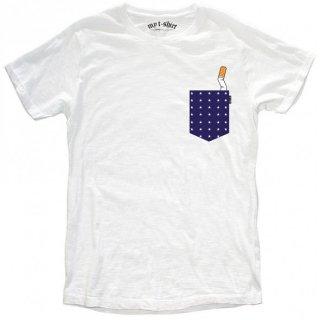 日本未入荷 イタリア発 MY T-SHIRT  Tシャツ POCKET POIS ポケット シガレット スモーキング  フォト パロディー プリント 関税込 セレブ愛用 LEON