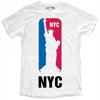 日本未入荷 イタリア発 MY T-SHIRT  Tシャツ NYC 自由の女神 NBA バスケットボール  ロゴ フォト パロディー プリント 関税込 セレブ愛用 LEON