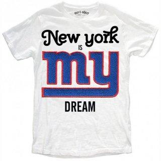 日本未入荷 イタリア発 MY T-SHIRT  Tシャツ MY DREAM  NFL アメフト ニューヨークジャイアンツ フォト パロディー プリント 関税込 セレブ愛用 LEON